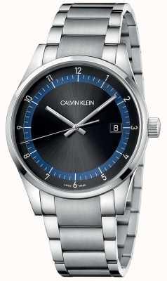 Calvin Klein | voltooiing | roestvrij stalen armband | zwarte / blauwe wijzerplaat | KAM21141