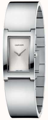 Calvin Klein   polijsten   roestvrij stalen armband   zilveren rechthoek wijzerplaat K9C2N116