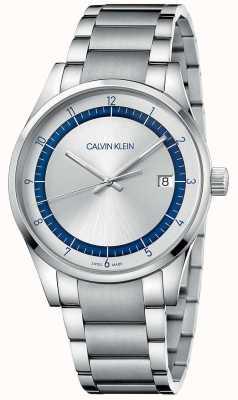 Calvin Klein | voltooiing | roestvrij stalen zilveren armband | zilveren wijzerplaat KAM21146