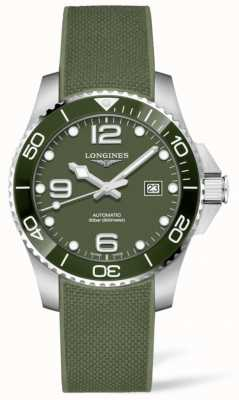 Longines Hydroconquest 43mm | groene wijzerplaat | rubberen band L37824069