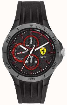 Scuderia Ferrari | pista voor heren | zwarte rubberen band | zwarte wijzerplaat 0830725