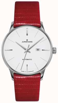 Junghans Meister dames automatisch rood leer 027/4044.00