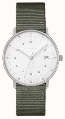 Junghans Max bill damen | grijze nylon riem | witte wijzerplaat 047/4051.04