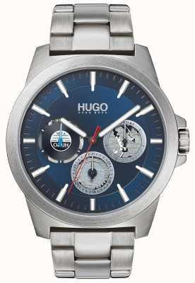 HUGO #twist | roestvrij stalen armband | blauwe wijzerplaat 1530131