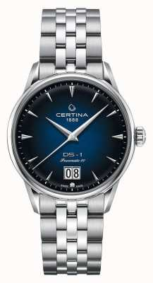 Certina Ds-1 grote date | powermatic 80 | roestvrij stalen armband C0294261104100