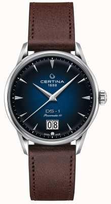 Certina Ds-1 grote datum | powermatic 80 | bruine lederen band C0294261604100