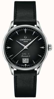 Certina Ds-1 grote date | powermatic 80 | zwarte leren band C0294261605100