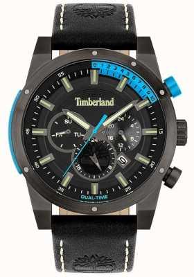 Timberland Heren | sherbrook | zwarte leren band | zwarte wijzerplaat 15951JSU/02