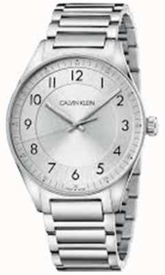 Calvin Klein | helder | roestvrijstalen armband | zilveren wijzerplaat | KBH21146