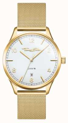 Thomas Sabo | glam en soul | gouden mesh armband voor dames | witte wijzerplaat WA0361-264-202-36