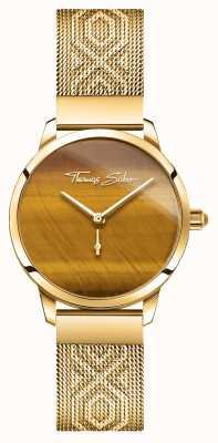 Thomas Sabo | glam en ziel | tuin geest van vrouwen | tijgersoog goud WA0364-264-205-33