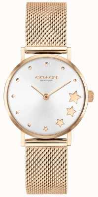 Coach | perry voor vrouwen | rosegouden mesh armband | zilveren wijzerplaat | 14503520