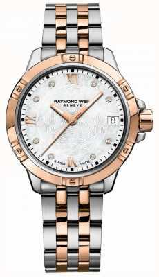 Raymond Weil | tango voor vrouwen | tweekleurige stalen armband | parelmoer 5960-SP5-00995