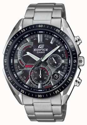 Casio | gebouw | stalen armband | stop horloge | zwarte wijzerplaat EFR-570DB-1AVUEF