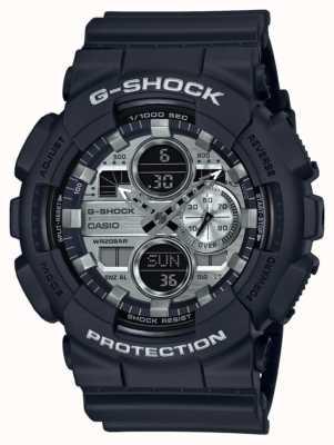 Casio | g-shock wereldtijd | zwart rubber | zwarte wijzerplaat GA-140GM-1A1ER