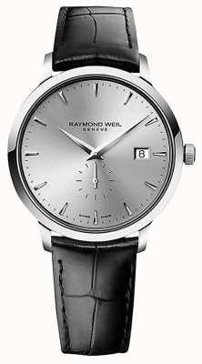 Raymond Weil Heren   toccata   zwarte leren band   zilveren wijzerplaat 5484-STC-65001