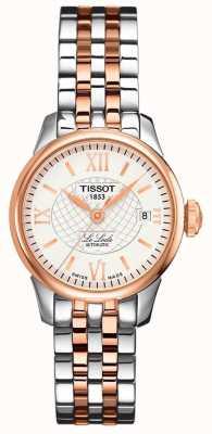 Tissot Dames | le locle | automatisch | tweekleurig rose staal T41218316