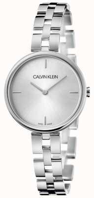 Calvin Klein Elegantie | roestvrijstalen armband | zilveren wijzerplaat KBF23146