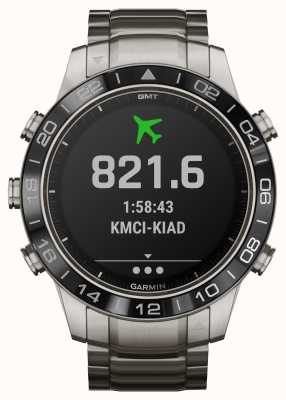 Garmin Marq vlieger | titanium armband en zwarte rubberen band 010-02006-04