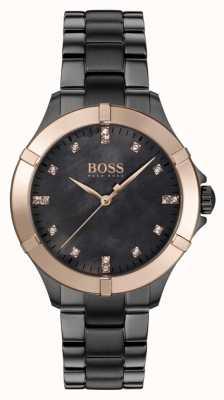 BOSS | minisport voor dames | grijze stalen armband | parelmoer 1502470