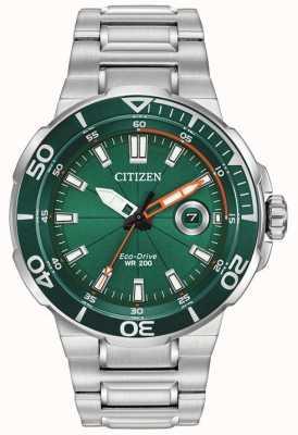 Citizen Heren sport groene wijzerplaat datumweergave AW1428-53X