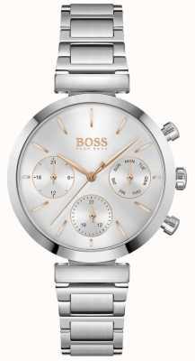 BOSS Onberispelijk | roestvrijstalen armband voor dames | zilveren wijzerplaat 1502530