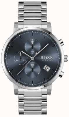BOSS | integriteit van mannen | roestvrijstalen armband | blauwe wijzerplaat 1513779