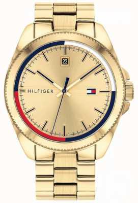 Tommy Hilfiger Riley | gouden ip stalen armband | gouden wijzerplaat 1791686