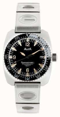 Alsta Nautoscaph superautomatische heruitgave metalen armband uit 1970 SUPERAUTOMATIC-BRACELET