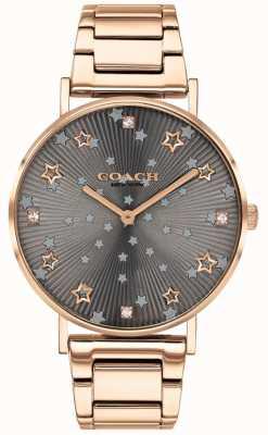 Coach | perry voor vrouwen | roségouden pvd armband | grijze stervormige wijzerplaat 14503524
