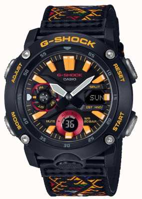 Casio G-shock bhutan textielpatroon GA-2000BT-1AER