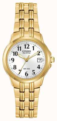 Citizen Dames vergulde kast en band eco-rijden EW1542-59A