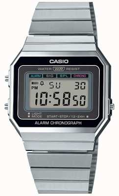 Casio Vintage | zilveren armband | digitale wijzerplaat | A700WE-1AEF