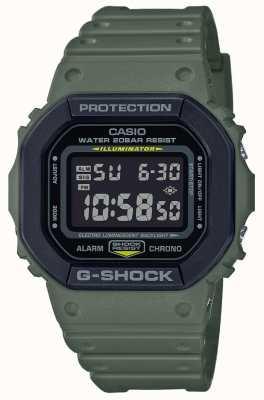 Casio G-shock | groene rubberen band | digitaal beeld DW-5610SU-3ER