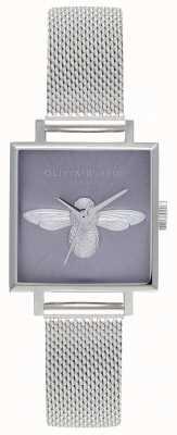 Olivia Burton 3d bij | zilveren armband voor dames | zilveren bijen wijzerplaat OB16AM136