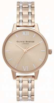 Olivia Burton ​the england collection | tweekleurige stalen armband | OB16EN02
