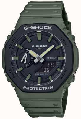 Casio G-shock | koolstofkern | groene rubberen band | digitaal beeld GA-2110SU-3AER