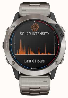 Garmin Quatix 6x zonne-energie glazen titanium armband 010-02157-31