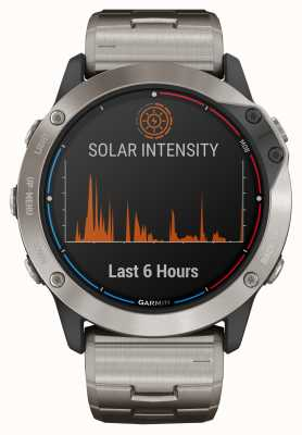 Garmin Quatix 6x zonne-energie glas titanium armband 010-02157-31