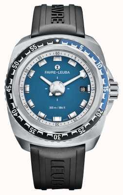 Favre Leuba Raider diepblauw 41 | zwarte rubberen band | blauwe wijzerplaat | 00.10106.08.52.31