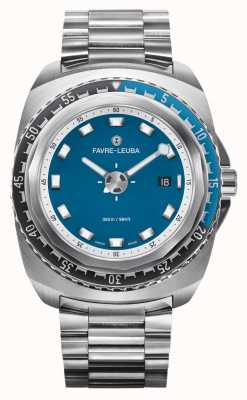Favre Leuba Raider diepblauw 44 | roestvrijstalen armband | blauwe wijzerplaat | 00.10102.08.52.20