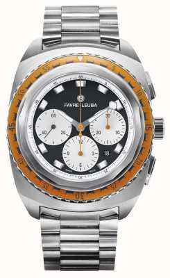 Favre Leuba Raider zee lucht | roestvrijstalen armband | zwart / witte wijzerplaat 00.10103.08.13.20