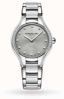 Raymond Weil Noemie voor vrouwen | 64 diamant | roestvrij staal | grijze wijzerplaat 5132-STS-65081