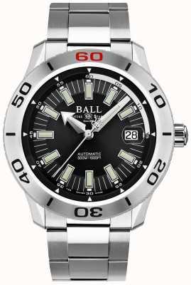 Ball Watch Company Brandweerman zwart necc | roestvrijstalen armband | zwarte wijzerplaat DM3090A-S3J-BK