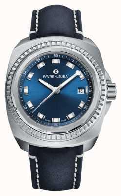 Favre Leuba Raider zeekoning | blauwe wijzerplaat | blauw antilopen leer 00.10107.08.51.46