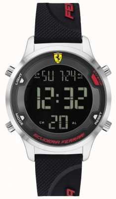 Scuderia Ferrari Digitrack voor heren | zwarte rubberen band | zwarte digitale wijzerplaat 0830756