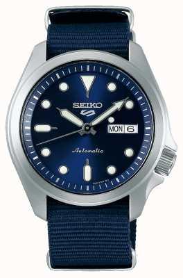 Seiko Automatisch herenhorloge met 5 sporten | blauwe nato SRPE63K1
