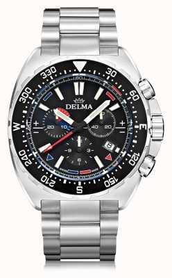 Delma Oceanmaster quartz chronograaf | roestvrij stalen armband 41701.678.6.038