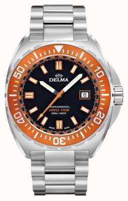 Delma Schelp ster kwarts | roestvrijstalen armband | oranje ring 41701.676.6.151