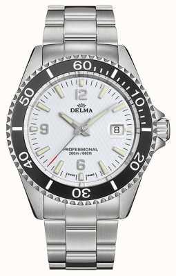 Delma Santiago kwarts | roestvrijstalen armband | witte wijzerplaat 41701.562.6.014